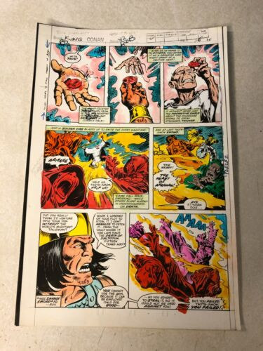 KING CONAN #2 ART color guide 1980 MAGIC JEWEL THOTH AMON sorcery Buscema MARVEL