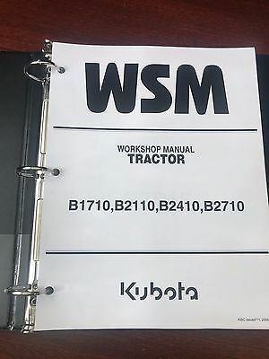 Kubota B1710 B2110 B2410 B2710 Tractor Service Shop Repair Manual