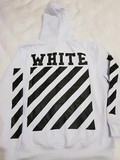 Off White Diagonal Hoodie (White)