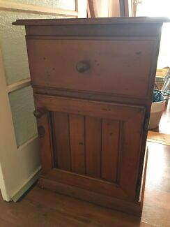 Wooden bed side cabinet