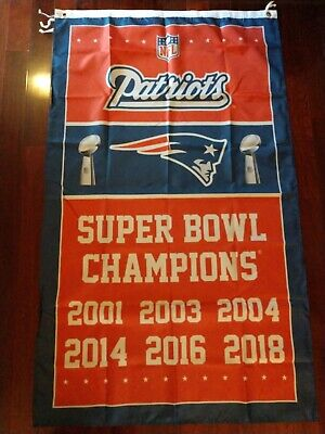 New England Patriots Super Bowl Champions with 2018.  3x5 Flag. US seller!!! - Patriots Flag