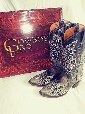Ladies 8.5 Cowgirl Boots 'Cowboy Pro Hand Made Luxury At Its Best' (Best Handmade Cowboy Boots)