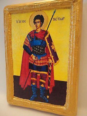 Saint Nestor Agios Nestoras Rare Christianity Greek Eastern Orthodox Icon Art