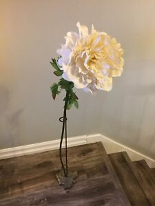 Decorative Faux Flower and Stand