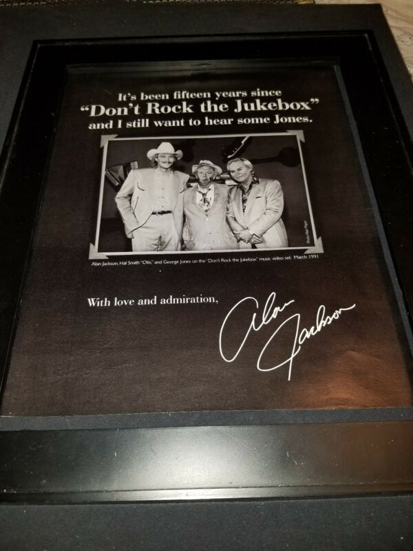 George Jones, Alan Jackson, Hal Smith Rare Original Promo Poster Ad Framed!