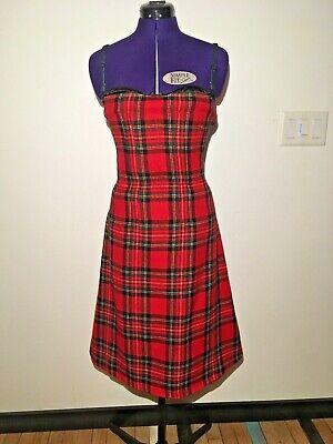 Rare Vintage Dolce & Gabbana (D&G) Red Tartan Plaid Dress size 44 (US 8)