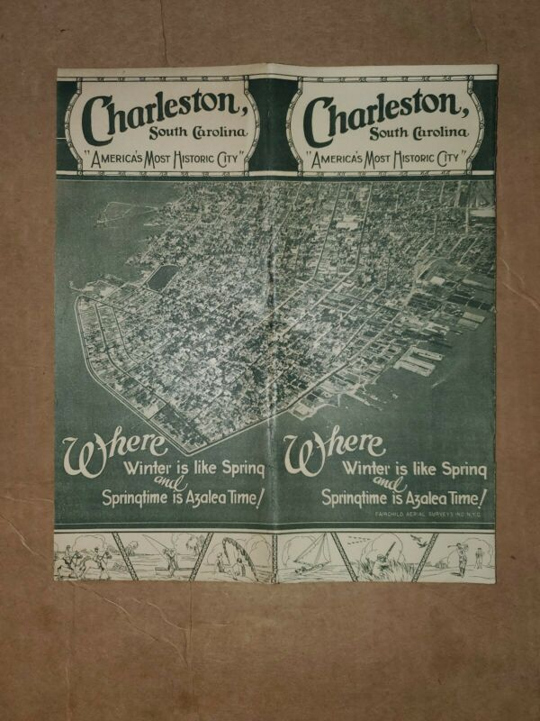 1930s Charleston South Carolina travel brochure