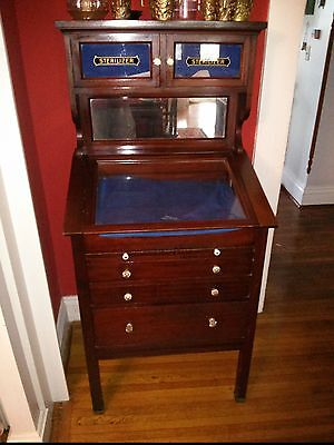Antique Trial Lens Cabinet - Turn Of The 20th Century - Mahogany - Optometry