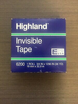Highland 6200 Invisible Tape 0.75 Inch X 36 Yards Matte