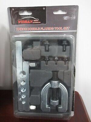 7pc Automotive Brake Line Double Bubble Flaring Tool Set with adapters Kit - Double Flaring Tool Set