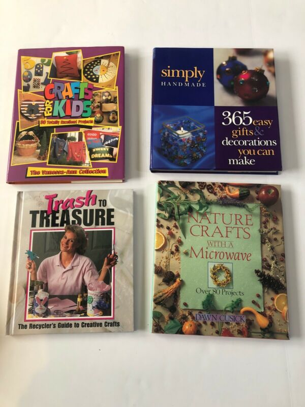 4 Piece Craft Book Lot Kid Crafting Recycle Nature Gifts Decorations DIY #BCL