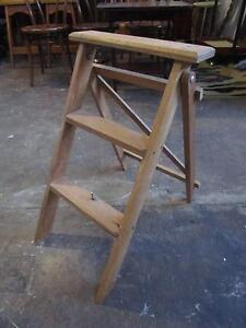 D19001 Small Rustic Timber Step Ladder Mount Barker Mount Barker Area Preview