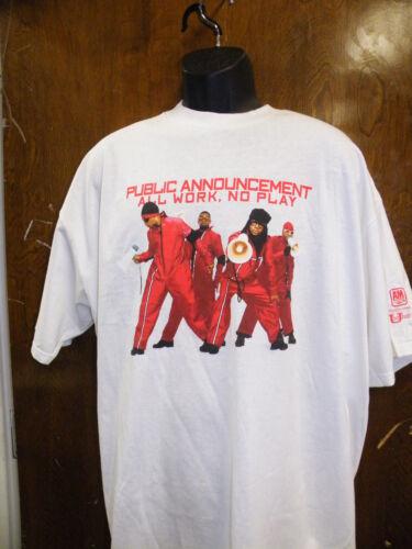Public Announcement All Work, No Play, Vintage Classic R & B Promo T-Shirt