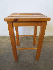 D5055 Country Style Timber Low Stool Mount Barker Mount Barker Area Preview