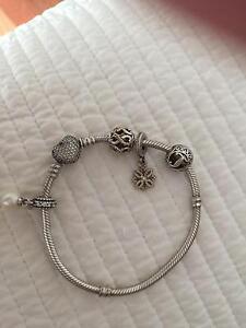 Genuine PANDORA bracelet and charms Tumbarumba Tumbarumba Area Preview