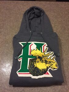OTH Halifax Mooseheads Hooded Sweatshirt, Grey, Mens Medium
