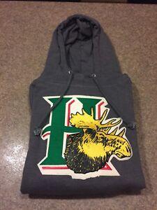 OTH Halifax Mooseheads Hooded Sweatshirt, Grey, Mens Medium