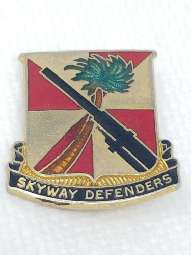 Vintage Gold Red Skyway Defenders Palm Tree Artillery Pin