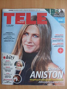 JENNIFER ANISTON on front cover TELE MAGAZYN 26/2016 - Czestochowa, Polska - JENNIFER ANISTON on front cover TELE MAGAZYN 26/2016 - Czestochowa, Polska