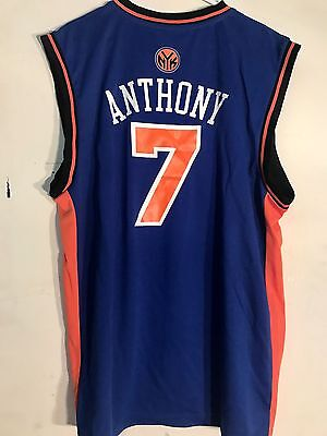 Adidas Nba Jersey New York Knicks Carmelo Anthony Blue Sz L