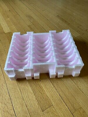Lot Of 2 Shipping Foam Hard Drive Storage Box Tray For 20 3.5 Desktop Drives