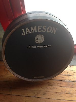 Jameson Irish Whiskey Faux Barrel Head Wall Sign with Chalkboard – New in Box