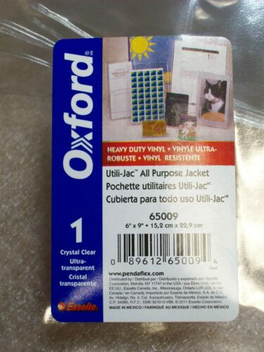 "*10 PACK* NEW OXFORD 6"" X 9"" CLEAR HEAVY DUTY VINYL ALL PURPOSE JACKET , 65009"