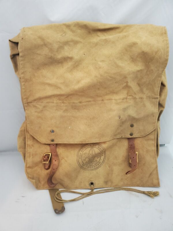 Vintage Boy Scouts of America No 574 Yucca Pack Canvas  FREE SHIPPING
