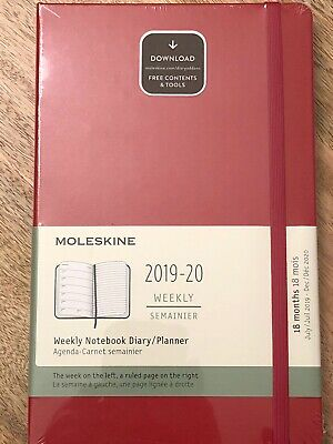 Moleskine Classic 18 Month 2019-2020 Daily Planner Soft Cover, Large (5x8) -