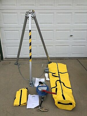 Condor 49z788 Confined Space Rescue Winch System Tripod 8 Adjustable 49z789