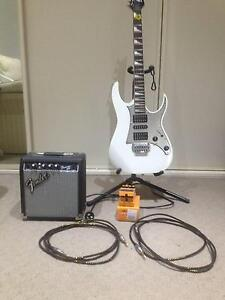 Ibanez guitar with Fender amp and Boss distortion pedal Woy Woy Gosford Area Preview