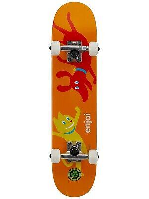 "Enjoi Cute Pet 6.5"" Orange Youth Micro Soft Top Skateboard Complete - Brand New!"