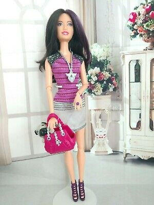 BARBIE RAQUELLE ARTICULATE LIFE IN THE DREAM HOUSE FASHIONISTA WITH PET PUG DOG