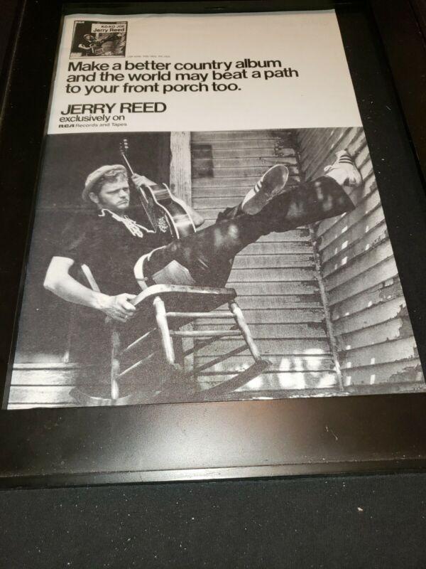 Jerry Reed Ko-Ko Joe Rare Original Promo Poster Ad Framed!