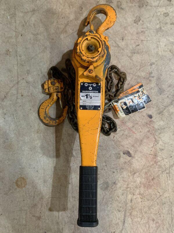 Harrington LB015 1-1/2 Ton Lever Chain Hoist USED AS IS