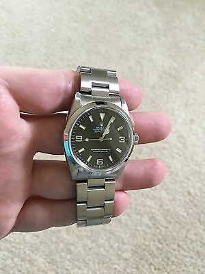 Rolex Oyster Stainless Steel Explorer 36MM 14270 Non-Date Black Arabic Dial