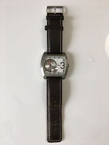 Guess Watch Rectangular Dial with Olive green strap.