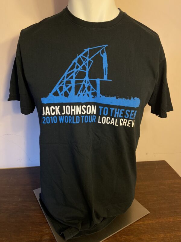 Jack Johnson 2010 To The Sea Local Crew Shirt Size Large Preowned
