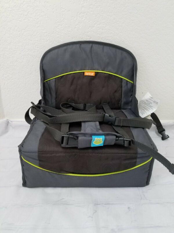 Munchkin Brica Folding Lightweight Travel Booster Seat Grey Green