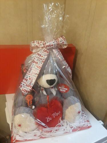 Large Grey Valentines Day Teddy Bear , Bears ,
