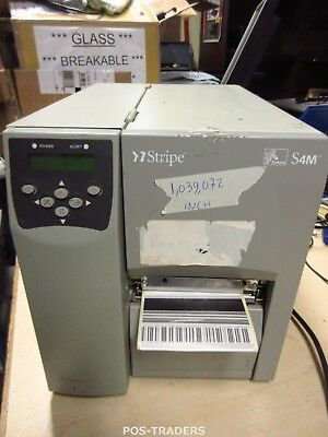ZEBRA S4M S4M00-200E-0200T Thermo Label LAN + USB Drucker Printer 1,039,072 INCH