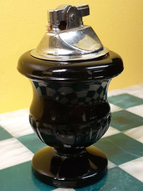 Vintage Glass Lighter Art Deco Style Table Lighter