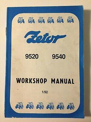 Zetor 9520 9540 Tractor Factory OEM Service Shop Repair Workshop Manual NOS 1/92 na sprzedaż  Wysyłka do Poland