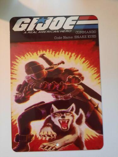 GI Joe Commando Snake Eyes and Timber 8x12 Metal Wall Sign