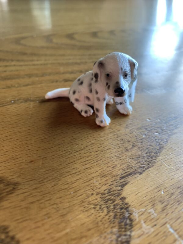 Schleich Dalmatian Puppy Sitting Retired 16348 With Tag Copyright 2006