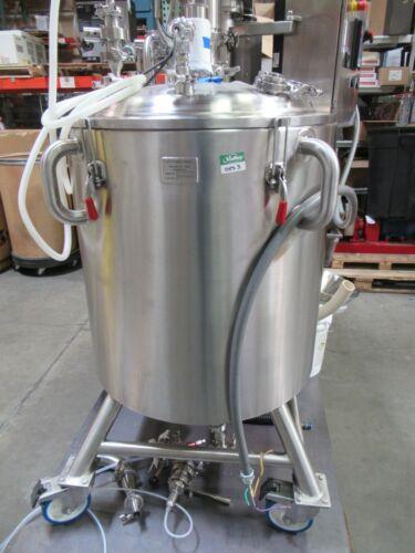 Scott Turbon 74 Gallon Emulifier Vacuum Mixer Jacket Vessel Sanitary bioreactor