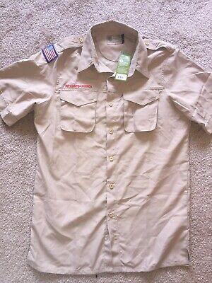 Men's Boy Scout Short Sleeve Polyester Microfiber Shirt NEW Sun protection (Boy Scout Mens Short Sleeve Polyester Microfiber Shirt)
