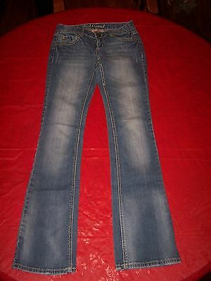 Red Camel Premium Denim Katie Fit Boot Cut Crinkled Whiskers Blue Jeans Size 1 Jeans Red Bootcut Premium Denim