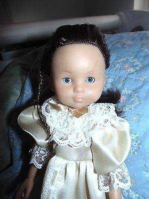 """Corolle Les Cheries Chloe Brown Hair Blue Eyes 13"""" All Vinyl in Cute 3 Pc."""