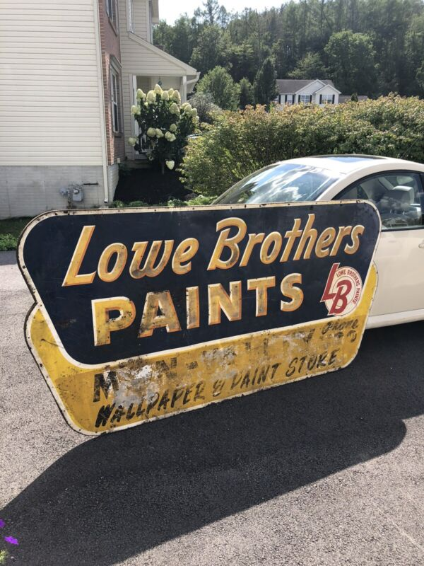 Vintage Rare 1953 Lowe Brothers Paint Sign Large Mon Valley Pittsburgh Store